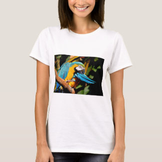 Portrait of  gelbbrustara macaw on branch T-Shirt