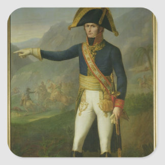 Portrait of General Charles Victor Square Sticker