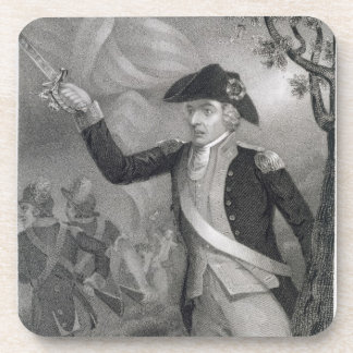 Portrait of General Francis Marion at the Battle o Drink Coaster