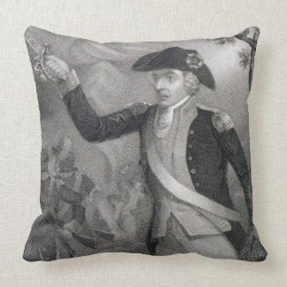 Portrait of General Francis Marion at the Battle o Throw Pillows