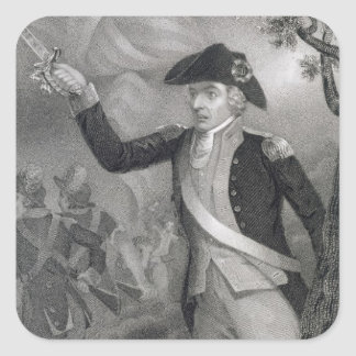 Portrait of General Francis Marion at the Battle o Square Sticker