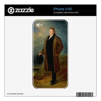 Portrait of General La Fayette in civilian dress, iPhone 4 Decals