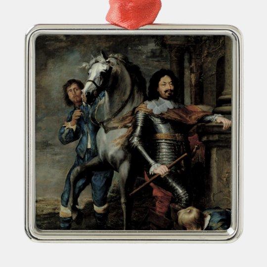 Portrait of General Ottavio Piccolomini Metal Ornament