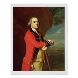 Portrait of General Thomas Gage, c.1768 (oil on ca Poster