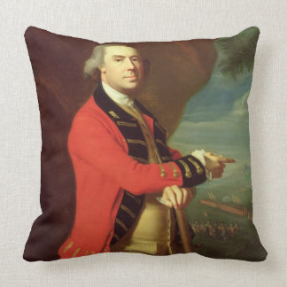 Portrait of General Thomas Gage, c.1768 (oil on ca Throw Pillows