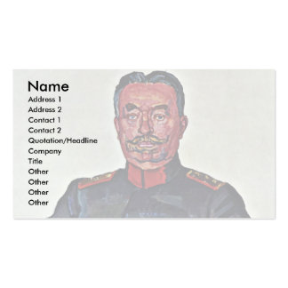 Portrait Of General Ulrich Wille Business Card Template