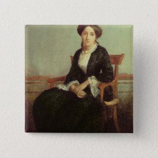 Portrait of Genevieve Celine, 1850 (oil on canvas) Button