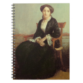 Portrait of Genevieve Celine, 1850 (oil on canvas) Notebook
