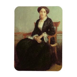 Portrait of Genevieve Celine, 1850 (oil on canvas) Rectangular Photo Magnet