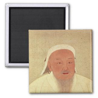 Portrait of Genghis Khan , Mongol Khan 2 Inch Square Magnet