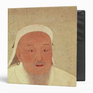 Portrait of Genghis Khan , Mongol Khan 3 Ring Binder