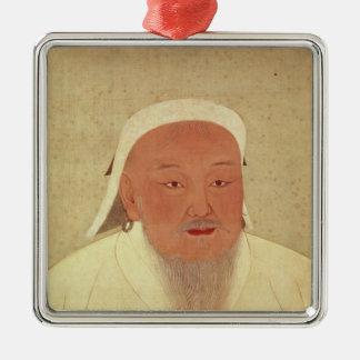 Portrait of Genghis Khan , Mongol Khan Metal Ornament