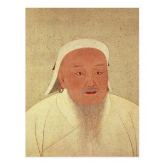 Portrait of Genghis Khan , Mongol Khan Postcard