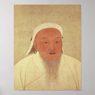 Portrait of Genghis Khan , Mongol Khan Poster