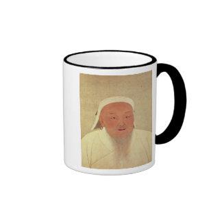 Portrait of Genghis Khan , Mongol Khan Ringer Mug
