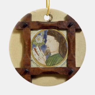 Portrait of Geoffrey Chaucer (c.1340-1400) (cerami Ceramic Ornament