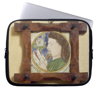 Portrait of Geoffrey Chaucer (c.1340-1400) (cerami Laptop Sleeve