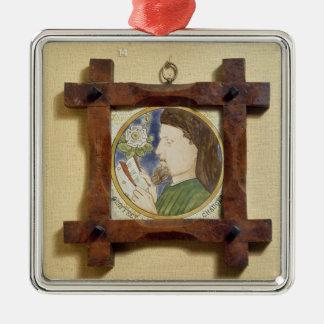 Portrait of Geoffrey Chaucer (c.1340-1400) (cerami Metal Ornament