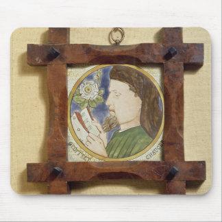 Portrait of Geoffrey Chaucer (c.1340-1400) (cerami Mouse Pad