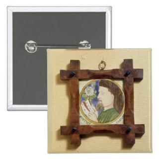 Portrait of Geoffrey Chaucer (c.1340-1400) (cerami Pinback Button