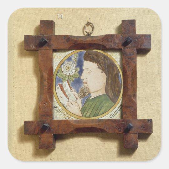 Portrait of Geoffrey Chaucer (c.1340-1400) (cerami Square Sticker