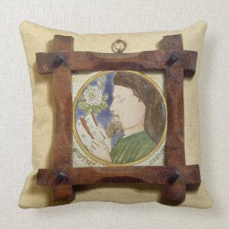 Portrait of Geoffrey Chaucer (c.1340-1400) (cerami Throw Pillow