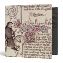 Portrait of Geoffrey Chaucer  facsimile from Binder