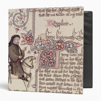 Portrait of Geoffrey Chaucer  facsimile from Binder