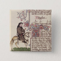 Portrait of Geoffrey Chaucer  facsimile from Button