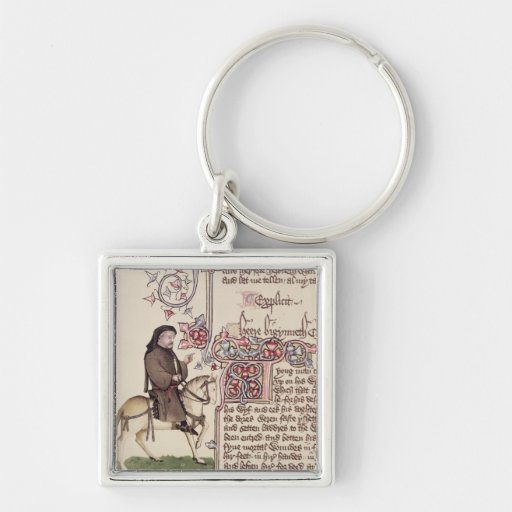 Portrait of Geoffrey Chaucer  facsimile from Keychains