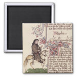 Portrait of Geoffrey Chaucer  facsimile from 2 Inch Square Magnet