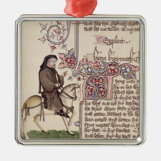 Portrait of Geoffrey Chaucer  facsimile from Metal Ornament