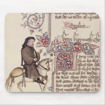 Portrait of Geoffrey Chaucer  facsimile from Mouse Pad