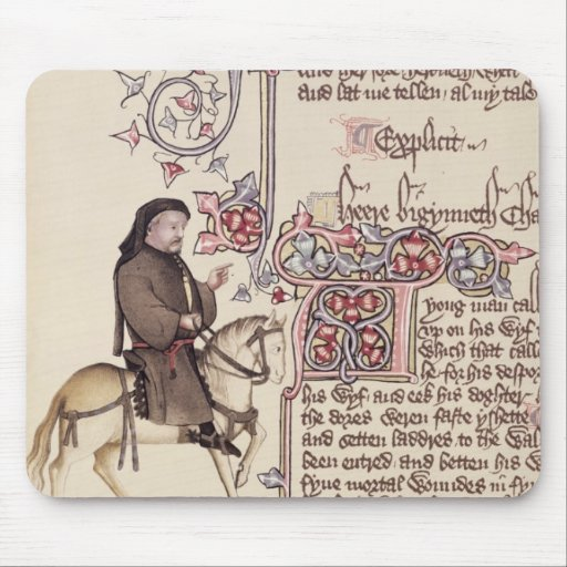 Portrait of Geoffrey Chaucer  facsimile from Mousepads