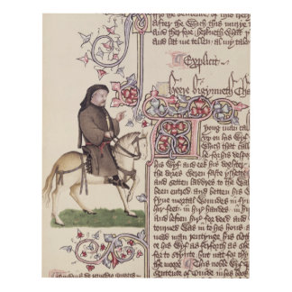 Portrait of Geoffrey Chaucer  facsimile from Panel Wall Art