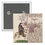 Portrait of Geoffrey Chaucer  facsimile from Pins