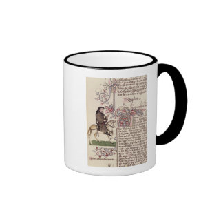Portrait of Geoffrey Chaucer  facsimile from Ringer Mug