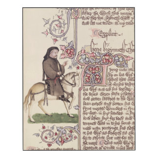 Portrait of Geoffrey Chaucer  facsimile from Wood Wall Art