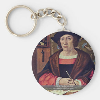 Portrait Of Georg Cell By Orley Bernaerd Van Key Chains