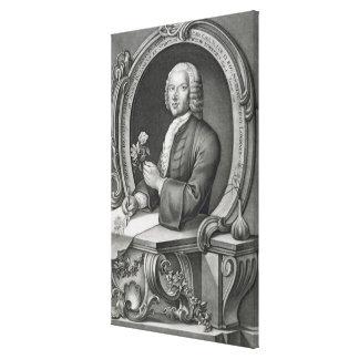 Portrait of Georg Dionysius Ehret (1710-70) engrav Canvas Print