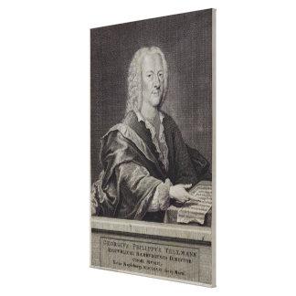 Portrait of Georg Philipp Telemann Canvas Print