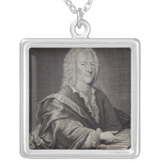 Portrait of Georg Philipp Telemann Silver Plated Necklace