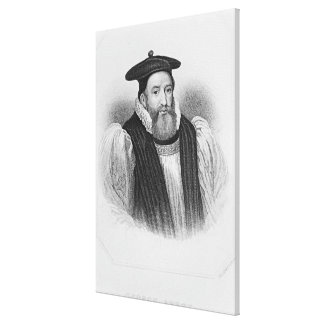 Portrait of George Abbot  Archbishop of Canvas Print
