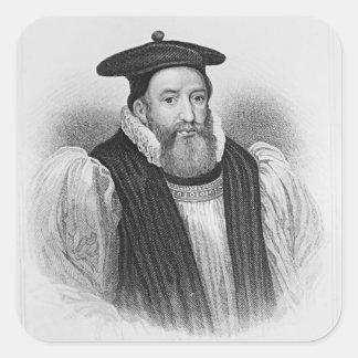 Portrait of George Abbot  Archbishop of Square Sticker