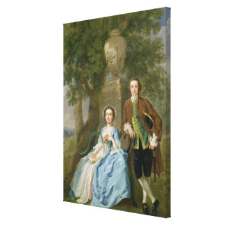 Portrait of George and Margaret Rogers, c.1748-50 Canvas Print
