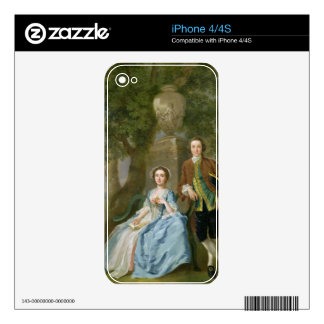 Portrait of George and Margaret Rogers, c.1748-50 iPhone 4S Decals