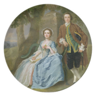 Portrait of George and Margaret Rogers, c.1748-50 Plate