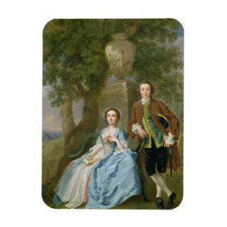 Portrait of George and Margaret Rogers, c.1748-50 Rectangular Photo Magnet