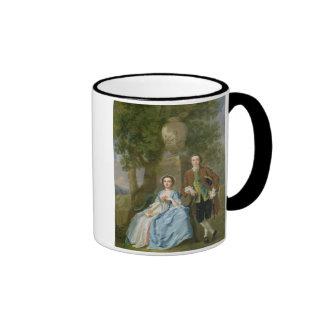 Portrait of George and Margaret Rogers, c.1748-50 Ringer Coffee Mug