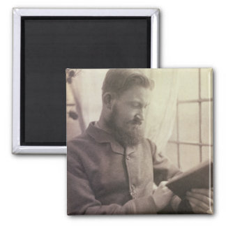 Portrait of George Bernard Shaw (1856-1950) as a Y 2 Inch Square Magnet